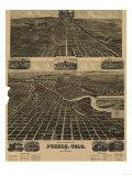 Colorado - Panoramic Map of Pueblo Posters by  Lantern Press