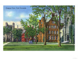 New Haven, Connecticut - Yale University Campus View Posters by  Lantern Press