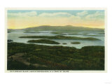Lake Winnipesaukee, Maine - Mt. Major Aerial View of Rattlesnake Island, Lake Posters by  Lantern Press