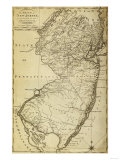 New Jersey - Panoramic Map Posters by  Lantern Press