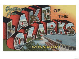 Missouri - Lake of the Ozarks Print by  Lantern Press