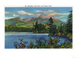 Maine - View of Mount Katahdin and Daicey Pond Poster by  Lantern Press