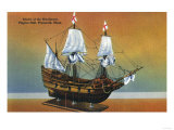Plymouth, Massachusetts - Model of the Mayflower in Pilgrim Hall View Poster by  Lantern Press