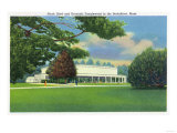 Lenox, Massachusetts - View of the Tanglewood Music Shed and Grounds Poster