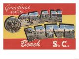 South Carolina - Ocean Drive Beach Poster