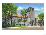 New Haven, Connecticut - Yale University Payne Whitney Gym Exterior View Poster