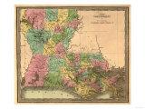 Louisiana - Panoramic Map Poster