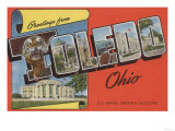 Toledo, Ohio - U.S. Naval Reserve Building Print by  Lantern Press