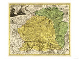 Lithuania - Panoramic Map Poster