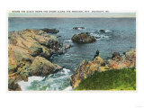 Ogunquit, Maine - Where the Ocean Meets the Shore Along the Marginal Way Poster