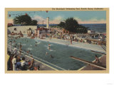Pacific Grove, CA - Municipal Swimming Pool View Poster by  Lantern Press