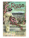 Portland, Oregon - Fifth Annual Rose Festival Advertisement Posters by  Lantern Press