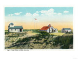 Provincetown, Massachusetts - View of Race Point Coast Guard Station Posters by  Lantern Press