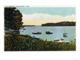 Middletown, Connecticut - View of Boats at the Narrows Posters by  Lantern Press