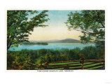 Rangeley, Maine - View Across Rangeley Lake Print by  Lantern Press