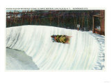 Lake Placid, New York - Riding the Whiteface Curve on the Olympic Bobsled Run Print