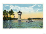 Lake Winnipesaukee, Maine - View of the Spindle Point Observatory, the Weirs Print by  Lantern Press