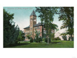 Orono, Maine - Exterior View of Wingate Hall, University of Maine Poster