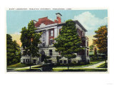 Middletown, Connecticut - Exterior View of Scott Laboratory, Wesleyan University Poster