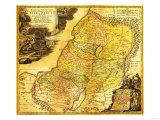 Palestine - Panoramic Map Prints by  Lantern Press