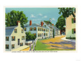 Plymouth, Massachusetts - Leyden Street View, First Street in New England Posters by  Lantern Press