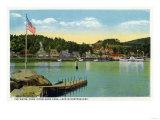 Lake Winnipesaukee, Maine - Interlaken Park View of the Weirs Posters by  Lantern Press