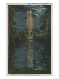 Lake Wales, FL - View of Mt. Lake & Singing Tower Posters by  Lantern Press