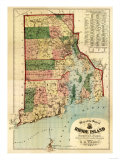 Rhode Island - Panoramic Map Posters by  Lantern Press