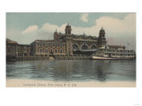 New York, NY - Immigrant Station on Ellis Island Posters by  Lantern Press