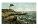 Portland, Maine - View of Peaks Island and the Pair Tree Print