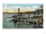 Lake Winnipesaukee, Maine - Mt. Washington, Gov. Endicott Steamers Docked Print