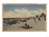 Pass-a-Grille Beach, Florida - Sunbathers on Beach Print by  Lantern Press