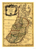 The Tribes of Israel in Palestine - Panoramic Map Prints