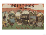 Pennsylvania - Pocono Mountians Posters by  Lantern Press
