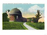 Middletown, Connecticut - Exterior View of Van Vleck Observatory, Wesleyan U Posters