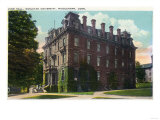 Middletown, Connecticut - Exterior View of Judd Hall, Wesleyan University Posters by  Lantern Press