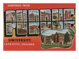 Lafayette, Indiana - Purdue University Posters by  Lantern Press