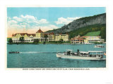 Maine - Moosehead Lake View of Mt Kineo House, Annex, and Yacht Club Poster