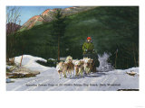 North Woodstock, New Hampshire - Ed Clark's Eskimo Dog Ranch, Dogsledding Poster