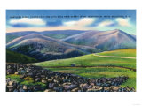 Mount Washington, New Hampshire - Summit View of Cog Rail, Northern Peaks Print