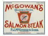 McGowan, Washington - Keystone Salmon Case Label Print by  Lantern Press