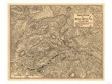 First Battle of Bull Run - Civil War Panoramic Map Posters by  Lantern Press