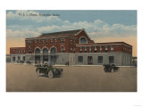 Pocatello, ID - Exterior View of O.S.L. Train Depot Posters