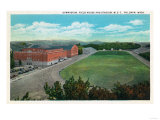 Pullman, Washington - Aerial View of WA State College Gym and Stadium Posters