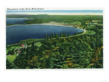 Manchester, New Hampshire - Aerial View of Massabesic Lake near City Posters by  Lantern Press
