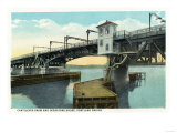 Portland, Maine - Portland Bridge Cantilever Draw and Operations House View Posters by  Lantern Press