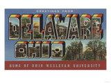Delaware, Ohio - Wesleyan University Posters