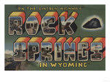 Rock Springs, Wyoming - Large Letter Scenes Posters