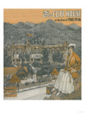 Manitou Springs, Colorado - The Cliff House & Pikes Peak Posters by  Lantern Press
