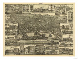 Reading, Pennsylvania - Panoramic Map Posters by  Lantern Press